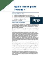 Lesson Plans for Grade 1