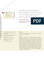 Equalities and Inequalities-Irreversibility and the Second Law of Thermodynamics at the Nanoscale