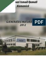 Libri i Gjenerates - Gjimnazi Ismail Qemali Kamenice