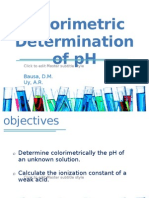 Colorimetric Determination of pH FINAL