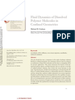 Fluid Dynamics of Dissolved Polymer Molecules in Confined Geometries