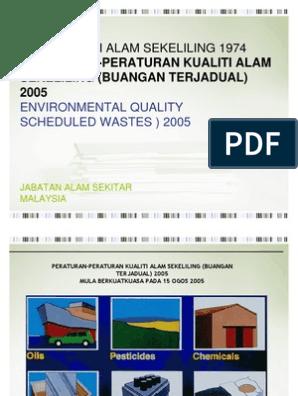 Akta Kualiti Alam Sekitar Buangan Terjadual Hazardous Waste Waste