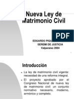 Nuevo Para Ministro Ley de Matrimonio Civil 1-4-04