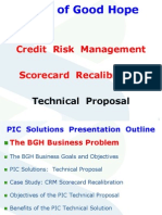 CRM Scorecard Re Calibration Methodology BGH