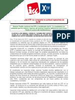 Izquierda Unida-XTF no comparte la actitud rupturista de SxTF    Ramón Trujillo, portavoz de XTF y coordinador de IU