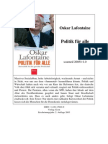 La Fontaine, Oskar - Politik F_r Alle