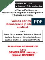 Plataforma Electoral 2011