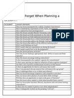 planning a lesson checklist