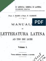 Manuale di letteratura latina ad uso dei licei 1