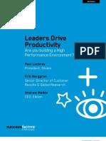 WP Leaders Drive Productivity Q112
