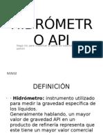 HIDRÓMETRO API
