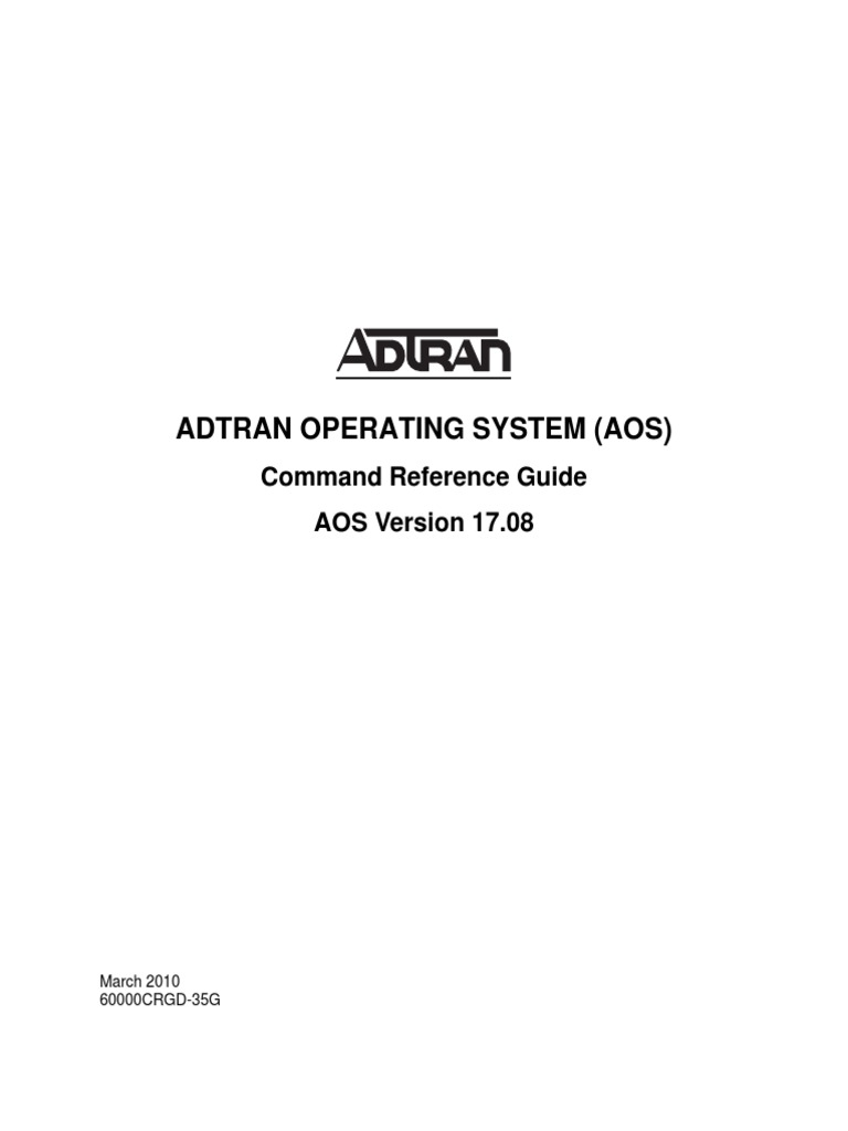 Adtran AOS Command Reference Guide 17 08 | Booting | Random Access