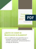 Preguntas Frecuentes - Certificado de Manipulador de Alimentos