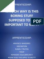 Apprenticeship Day 1b - Physics