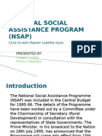 National Social Assistance Program (Nsap)