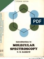 Barrow Introduction to Molecular Spectroscopy