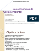 Instrumentos econômicos da Gestão Ambiental