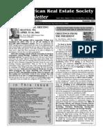 ARES Newsletter NOV 2010