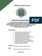 UNIVERSIDAD RICARDO PALMA - Protocolo de Investigacion