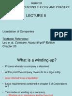 Lecture 8- Liquidation