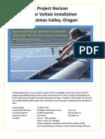 Project Horizon Solar Voltaic Installation Christmas Valley, Oregon