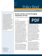 Excess, Access, and the Emerging Geopolitics of Food