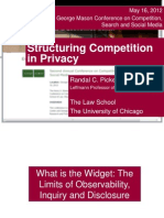 Structuring Competition in Privacy