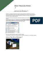 Los Mejores Trucos Para Windows 7