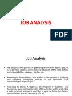 Job Analysis - Ppt