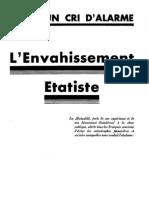 Un cri d'alarme. L'envahissement étatiste. Fédération nationale de la mutualité française. Vers 1936
