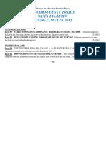 Police Daily Crime Bulletin 20120515