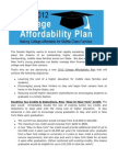 Middle Class College Tuition Affordability Plan
