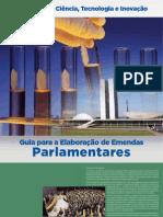 Guia para elaboração de emendas parlamentares para o MCTI