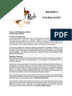 Boletín 11 de correo real de las mariposas monarca 2012
