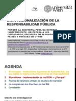 INSTITUCIONALIZACIÓN DE LA RESPONSABILIDAD PÚBLICA - Spanish