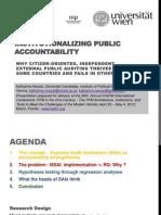 Institutionalizing Public Accountability