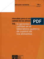 FAO Manual de Control de Requisitos de La Calidad