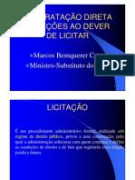 ministro tcu - licitações
