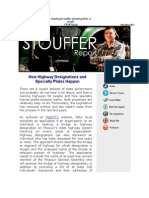 This Week's Stouffer Report - How Highway Designations and Specialty Plates Happen