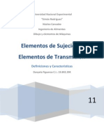 ELEMENTOS DE SUJECION Y TRANSMISIÓN