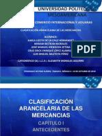 CLASIFICACIÓN ARANCELARIA DE LAS MERCANCIAS
