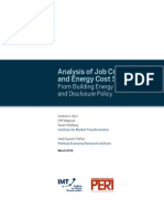 Analysis of Job Creation and Energy Cost Savings