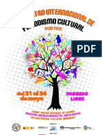 Programa I Encuentro de Periodistas Culturales
