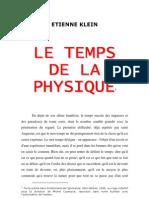 6546017 Etienne Klein Le Temps de La Physique