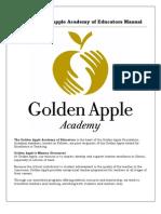 2012 Golden Apple Academy of Educators Manual - May 2012