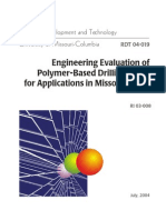 Engineering Evaluation of Polymer-Based Drilling Fluids