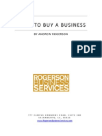 Guide to Buy a Business