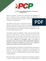 Câmara Municipal de Sintra avaliza mega-agrupamentos e esvazia empresa municipal EDUCA