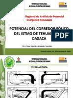 Potencial del Corredor Eólico del Istmo de Tehuantepec