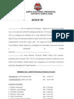 INTERNAS 2012. Acta 191 Proclama Comite Provincia UCR